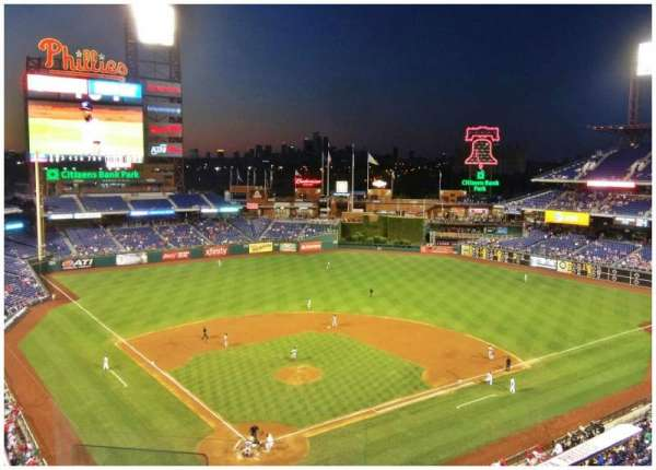 Citizens Bank Park, section: 319, row: 6, seat: 22
