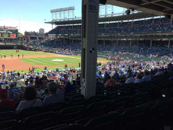Wrigley Field, section: 209, row: 11, seat: 17