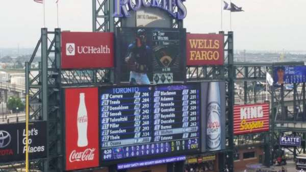 Coors Field, section: L340, row: 2, seat: 12