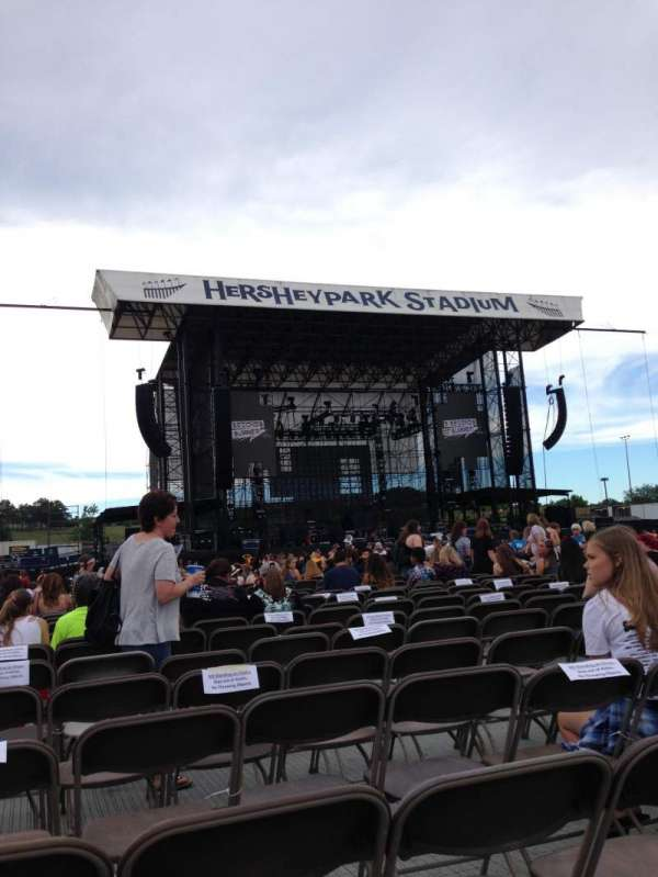 Hershey Park Stadium, section: E, row: 45, seat: 33
