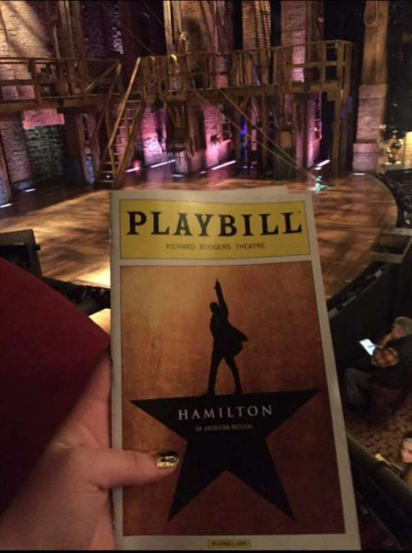 Richard Rodgers Theatre, section: Box A, seat: 3