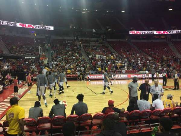 Thomas & Mack Center, section: 107, row: Ee, seat: 1