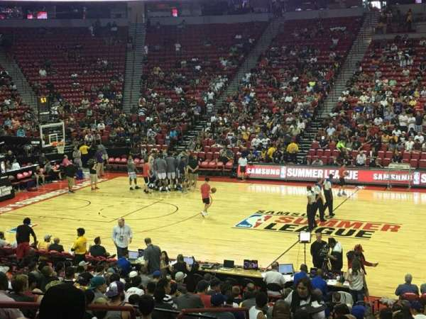 Thomas & Mack Center, section: 105, row: K, seat: 10