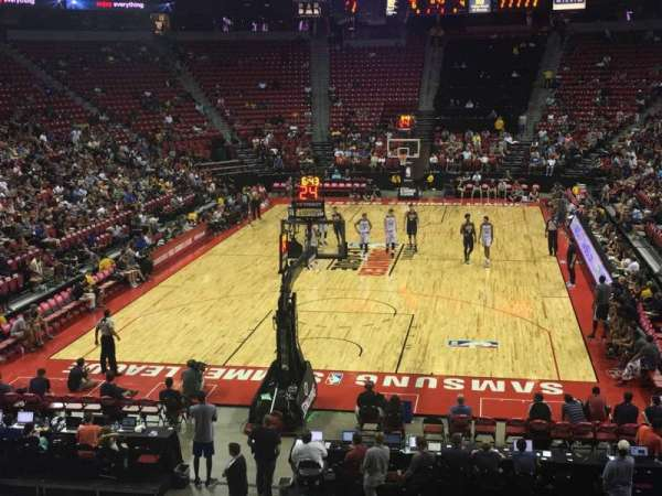 Thomas & Mack Center, section: 122, row: P, seat: 8