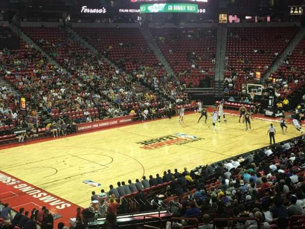 Thomas & Mack Center, section: 120, row: S, seat: 6