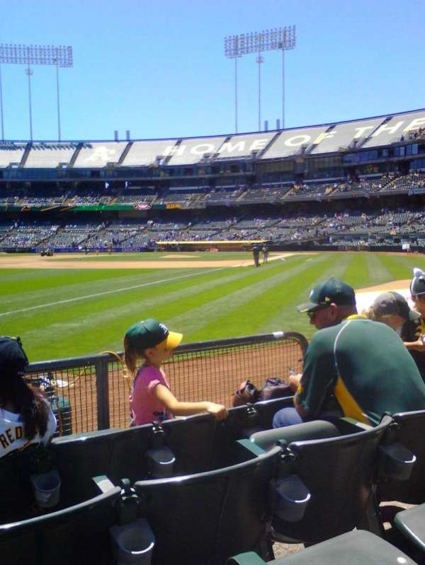 Oakland Coliseum, section: 129, row: 4, seat: 6