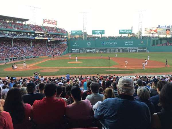 Fenway Park, section: Loge Box 117, row: NN, seat: 1