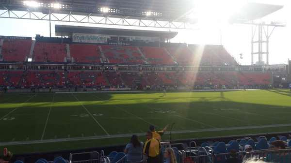 BMO Field, section: 109, row: 9, seat: 18