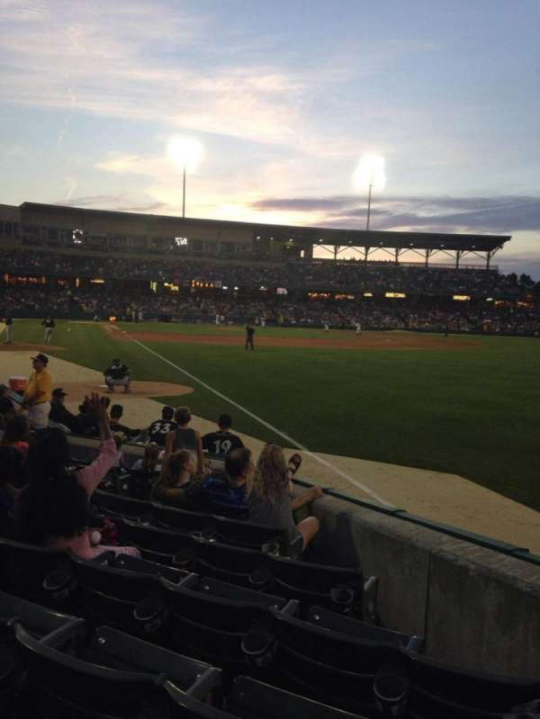 Victory Field, section: 123, row: J, seat: 8