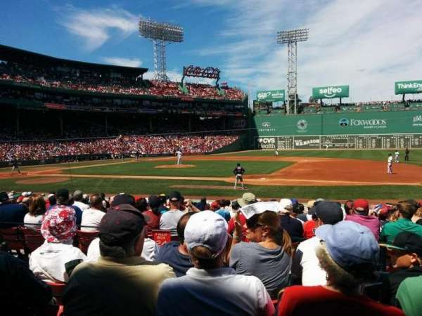 Fenway Park, section: Loge box 110, row: DD, seat: 3 and 4