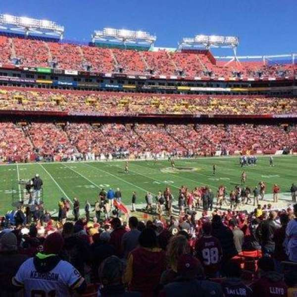 FedEx Field, section: 225, row: 12, seat: 9