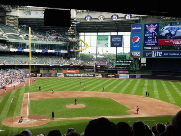 Miller Park, section: 215, row: 20, seat: 6