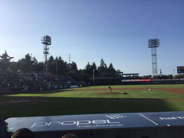 Cheney Stadium, section: 121, row: 7, seat: 4