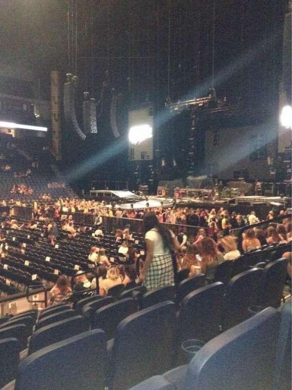 Bridgestone Arena, section: 105, row: Kk, seat: 8