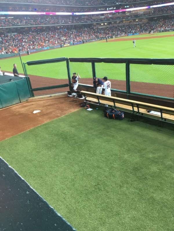 Minute Maid Park, section: 156, row: 1, seat: 3 and 4
