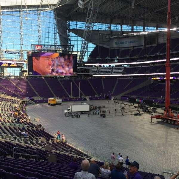 U.S. Bank Stadium, section: 124, row: 31, seat: 1