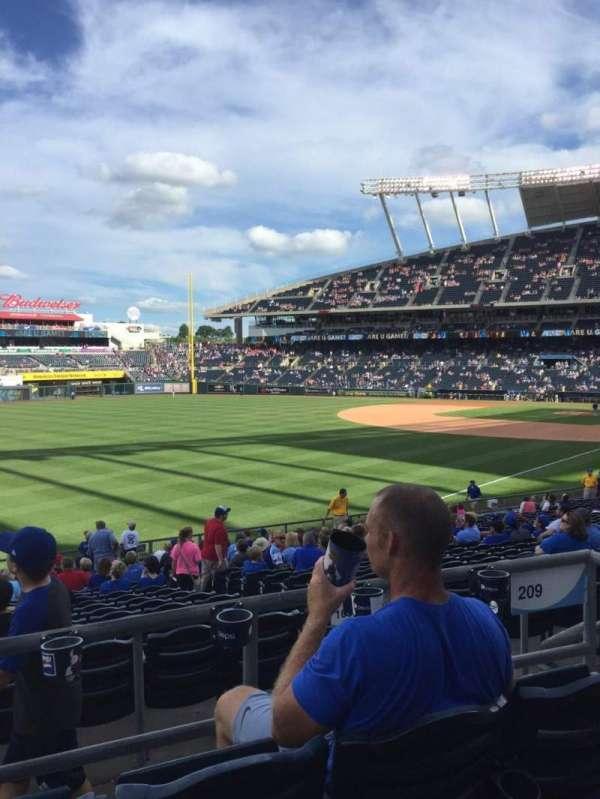 Kauffman Stadium, section: 209, row: CC, seat: 8