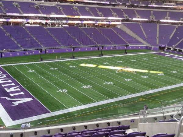 U.S. Bank Stadium, section: 240, row: 9, seat: 9