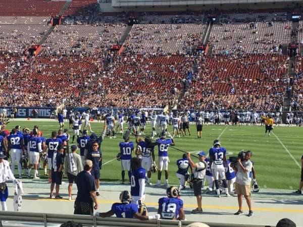 Los Angeles Memorial Coliseum, section: 121A, row: 7, seat: 6