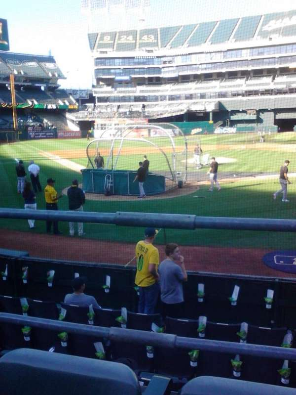 Oakland Coliseum, section: 116, row: 14, seat: 6
