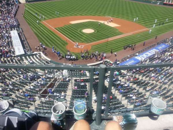 Coors Field, section: L329, row: 1, seat: 8