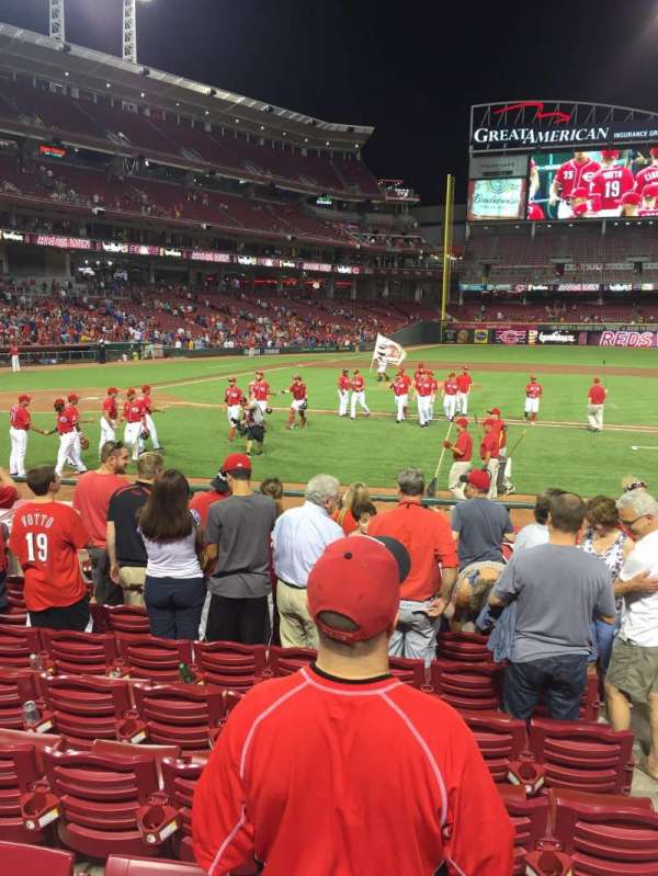 Great American Ball Park, section: 129, row: N, seat: 2