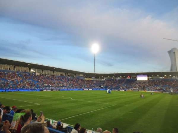 Saputo Stadium, section: 112, row: F, seat: 5