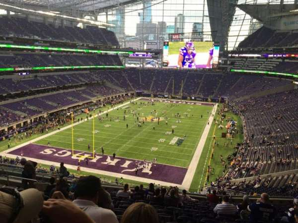 U.S. Bank Stadium, section: 221, row: 14, seat: 17