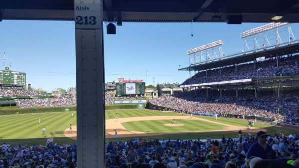 Wrigley Field, section: 213, row: 10, seat: 106