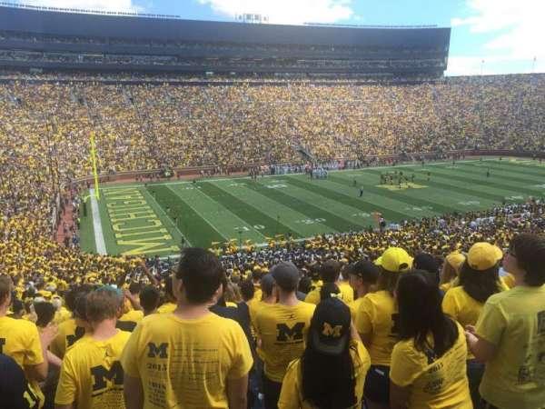 Michigan Stadium, section: 27, row: 64, seat: 8