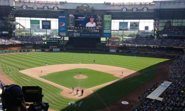 Miller Park, section: 329, row: 4, seat: 4