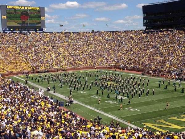 Michigan Stadium, section: 16, row: 67, seat: 12