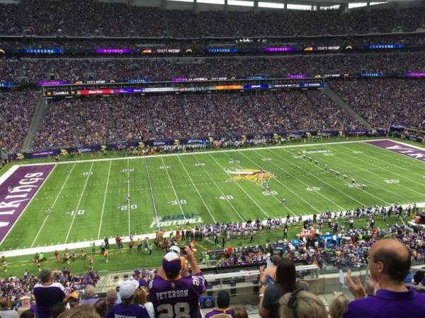 U.S. Bank Stadium, section: C10, row: 9, seat: 5