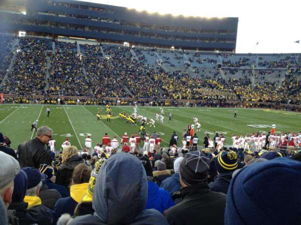 Michigan Stadium, section: 2, row: 22, seat: aisle