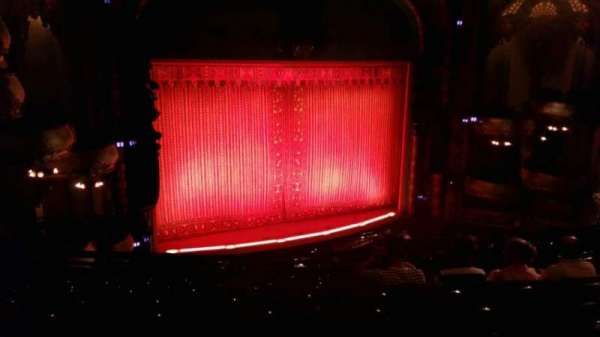 New Amsterdam Theatre, section: Mezzanine L, row: JJ, seat: 19