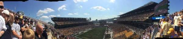 Heinz Field, section: 525, row: F, seat: 10