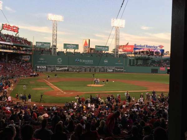 Fenway Park, section: Grandstand 18, row: 6, seat: 12