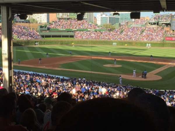Wrigley Field, section: 215, row: 20, seat: 22