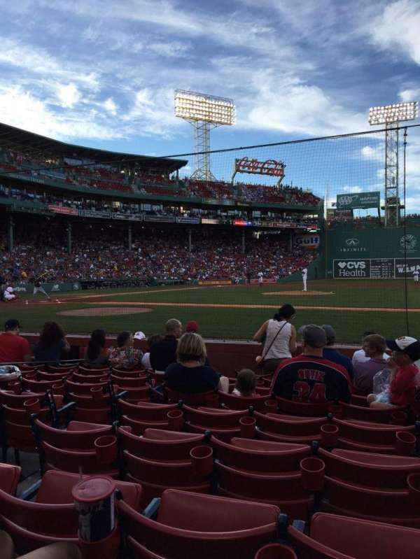 Fenway Park, section: Field Box 29, row: G, seat: 2