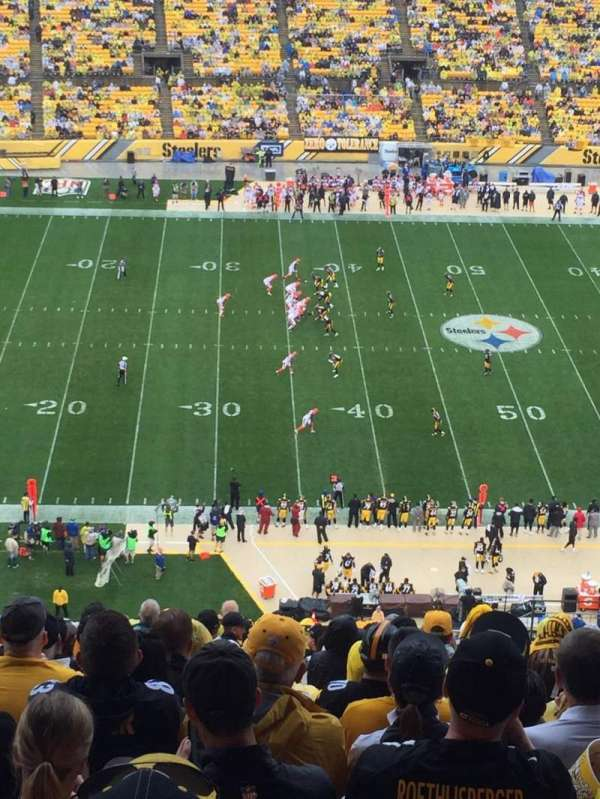 Heinz Field, section: 533, row: X, seat: 7