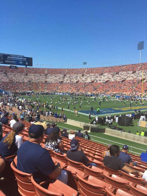 Los Angeles Memorial Coliseum, section: 102, row: 27, seat: 2