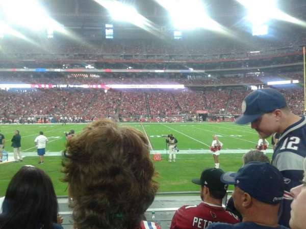 University of Phoenix Stadium, section: 127, row: 4, seat: 7