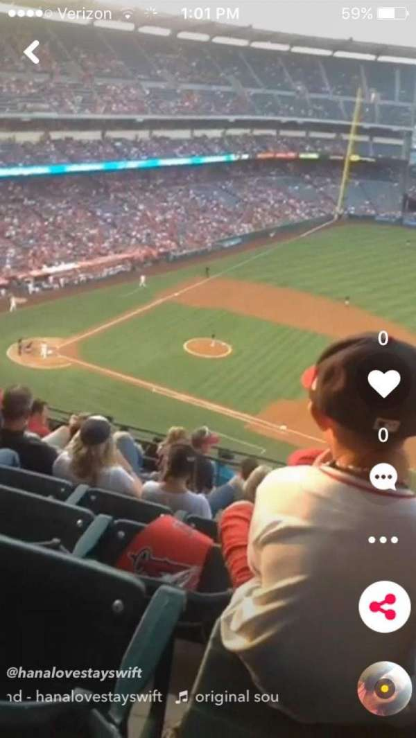 Angel Stadium, section: V529, row: 15, seat: 16