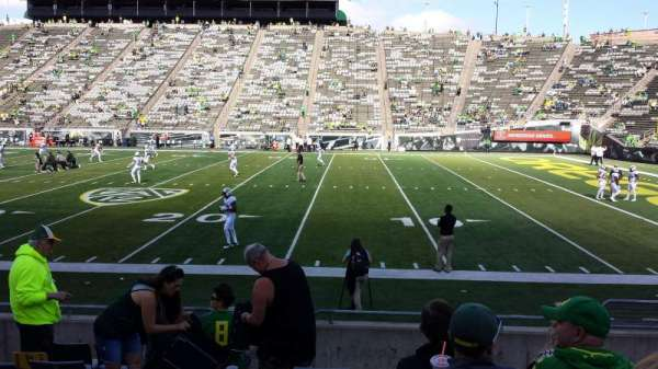 Autzen Stadium, section: 28, row: 10, seat: 7