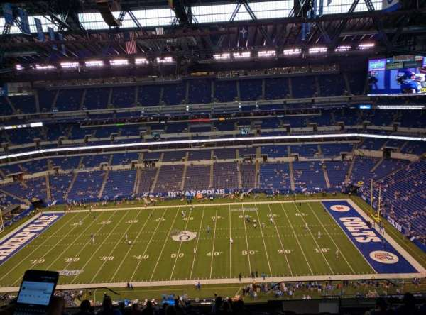 Lucas Oil Stadium, section: 612, row: 15, seat: 8,9,10