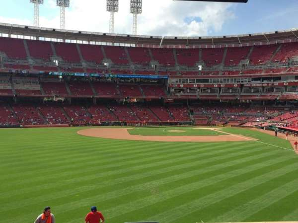Great American Ball Park, section: 104, row: H, seat: 10