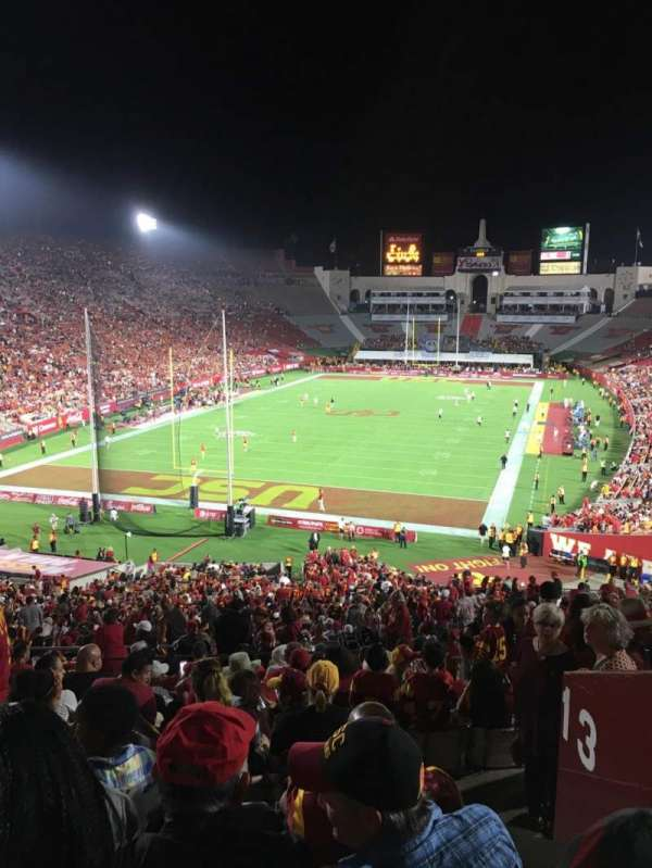 Los Angeles Memorial Coliseum, section: 213, row: 13, seat: 2