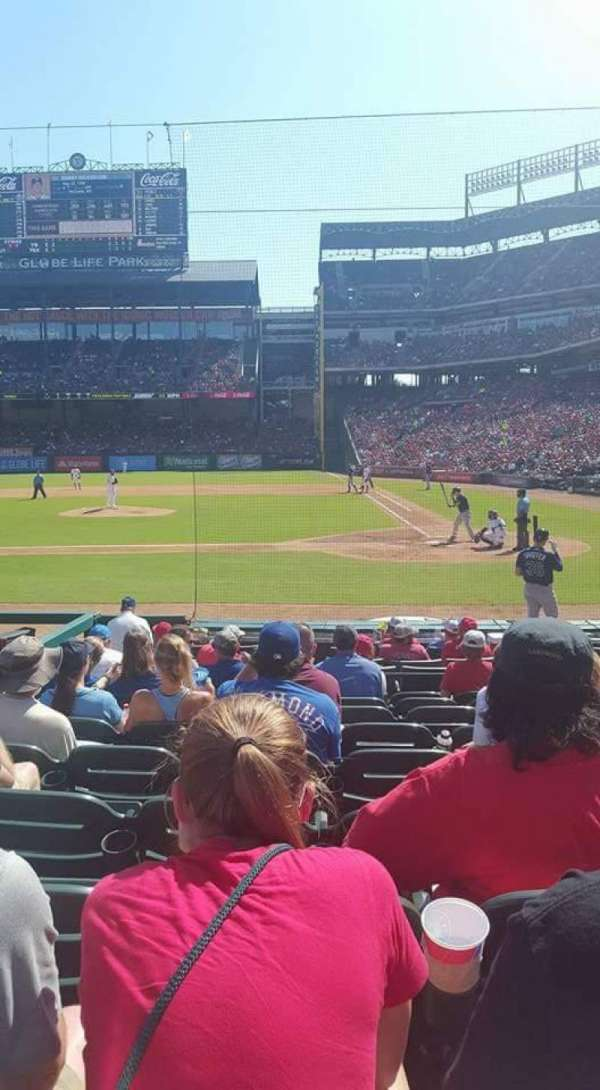Globe Life Park in Arlington, section: 21, row: 9, seat: 5