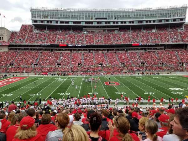 Ohio Stadium Section 22a Home Of Ohio State Buckeyes