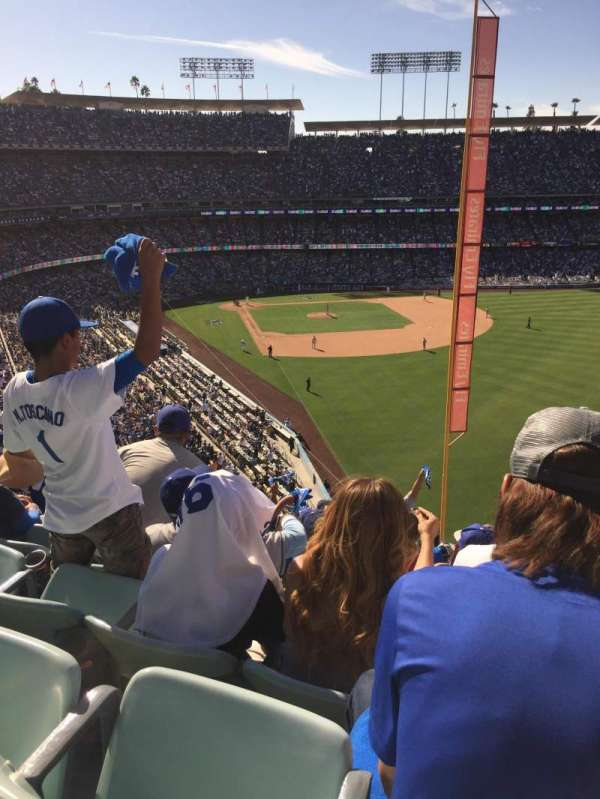 Dodger Stadium, section: 56Rs, seat: 20